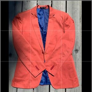 Men's Orange Blazer Suit Jacket